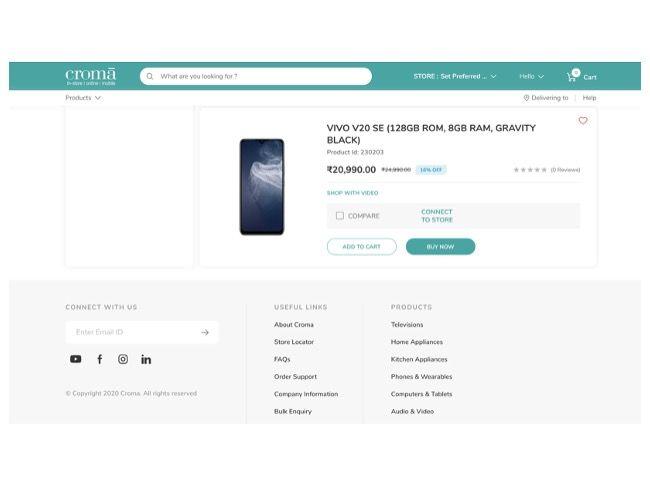 Vivo V20 SE India price leaked online