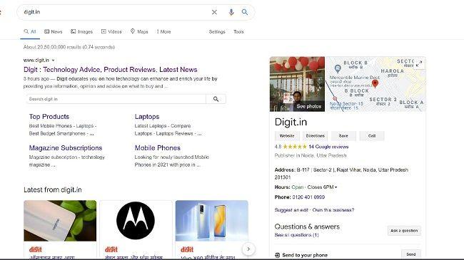 Dark Mode Google Search Page