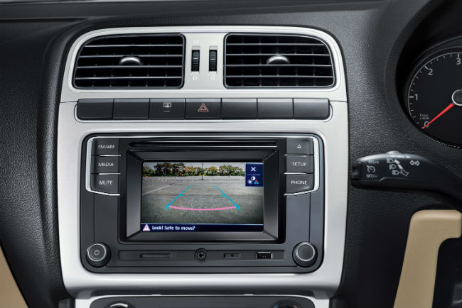 A test run of the Volkswagen Ameo's infotainment system