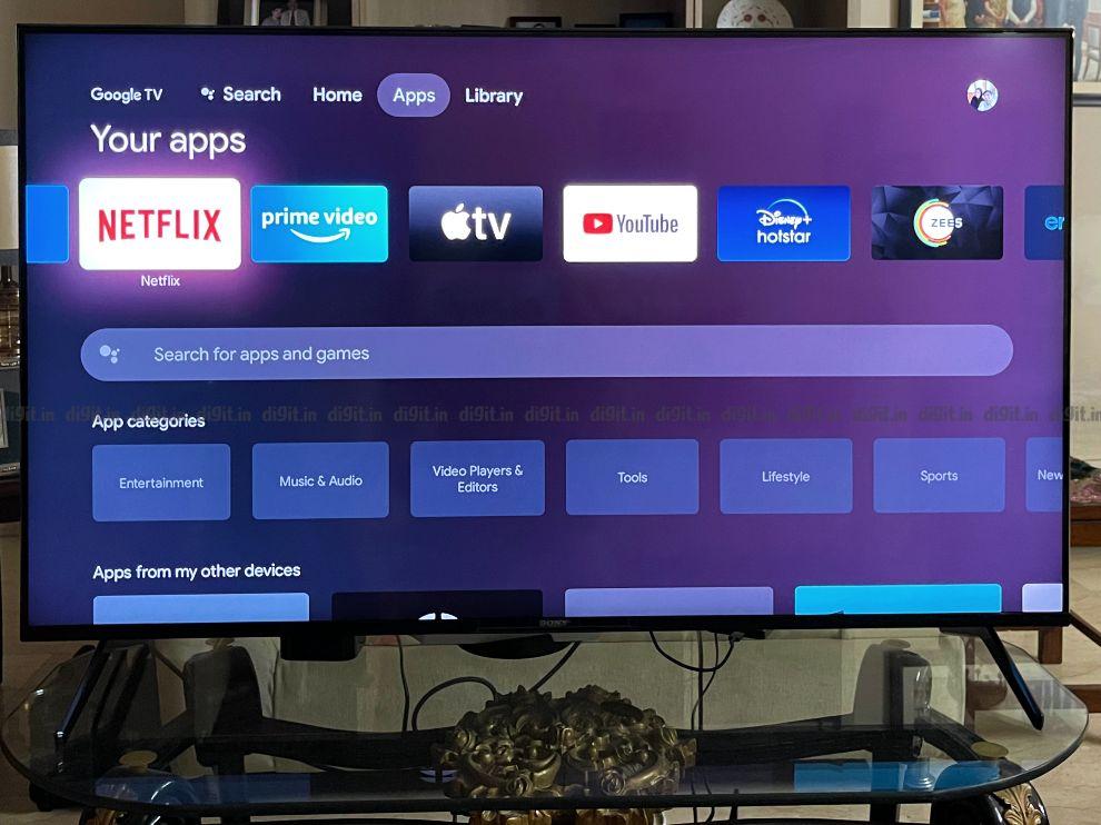 Sony X90J runs on the new Google TV UI.