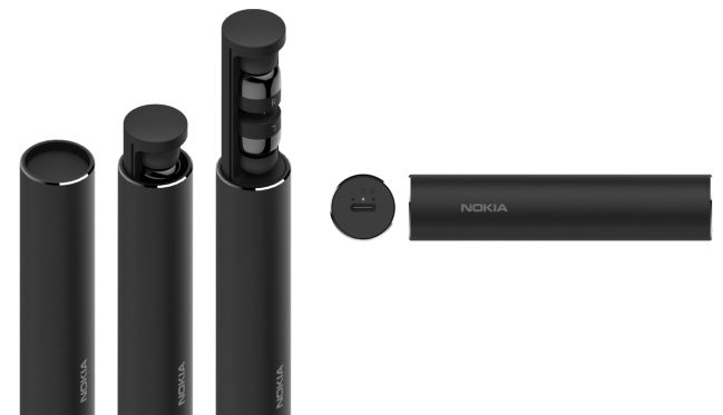 0452056fcf9 The Nokia True Wireless Earbuds are rather lightweight with each earbud  weighing five grams. The charging pod is said to deliver three additional  full ...