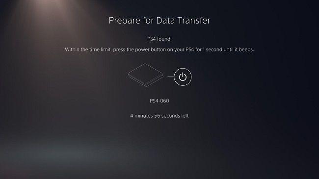PS5 Transfer screen