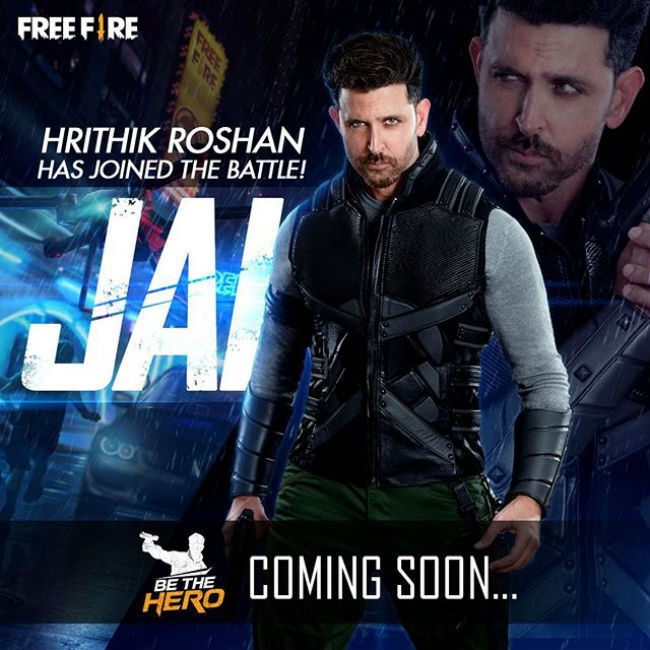 Garena Free Fire's new character is called Jai and is based on Hritik Roshan