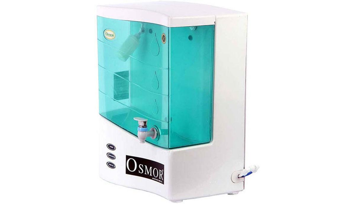 Osmor SUPER PRO SMART ALKALINE +TDS CONTROLLER+ UF RO 10 L RO + UF Water Purifier (White)