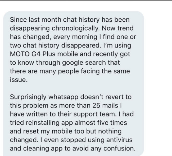 WhatsApp hit by multiple bugs deleting chat history, threatening