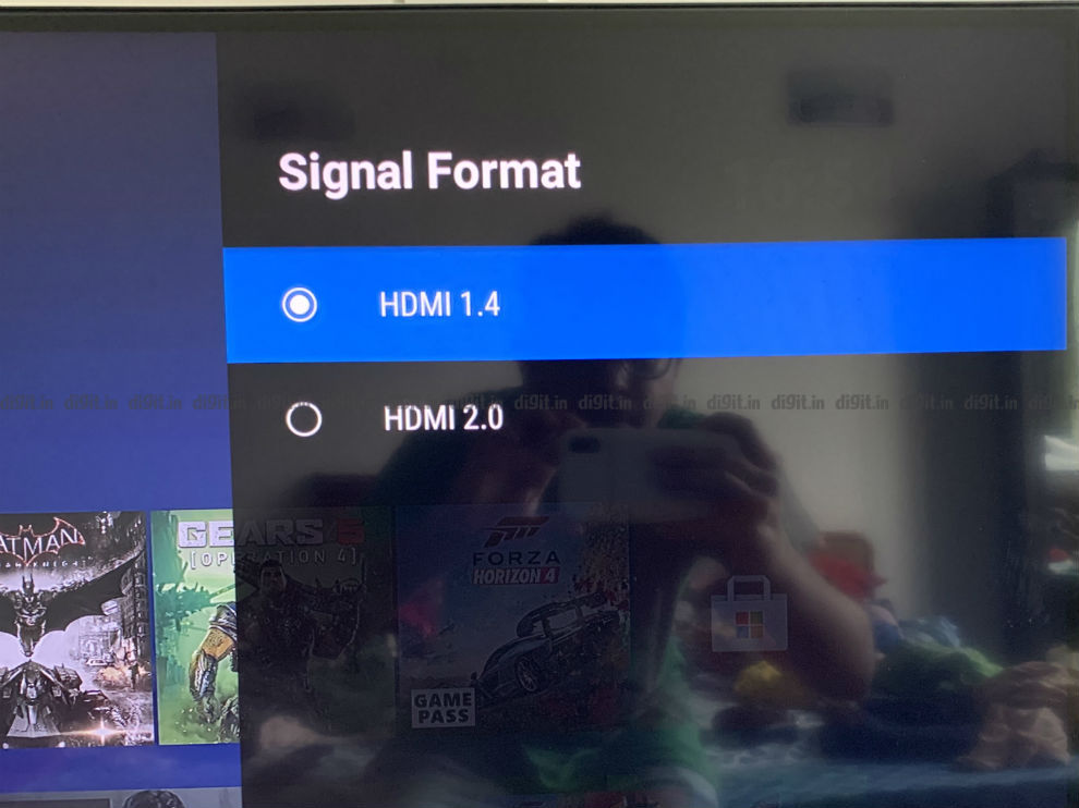 You can control the HDMI 1.4 and 2.0 setting on the Nokia 43-inch TV.