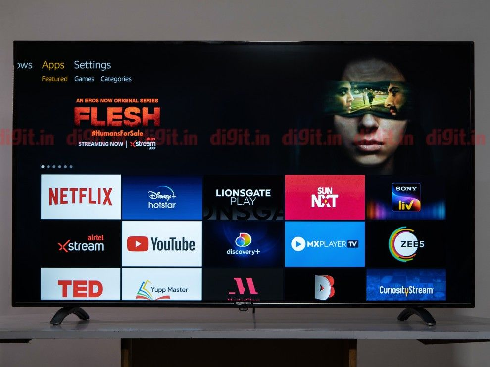The AmazonBasics TV supports all popular streaming services.