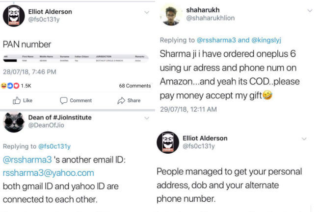 TRAI Chief shares Aadhaar number on Twitter, hackers post