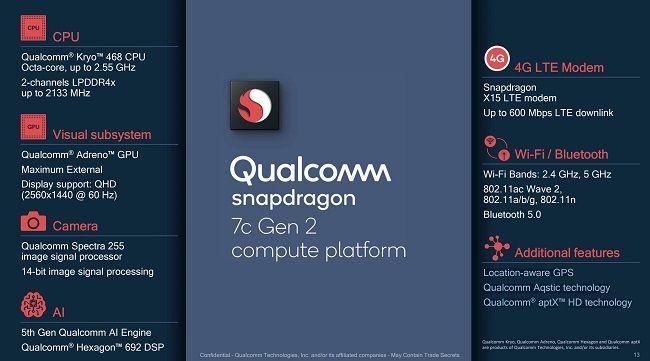 Qualcomm Snapdragon 7c Gen 2 Specifications