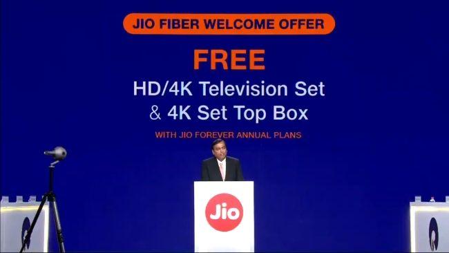 JioFiber Free LED TV