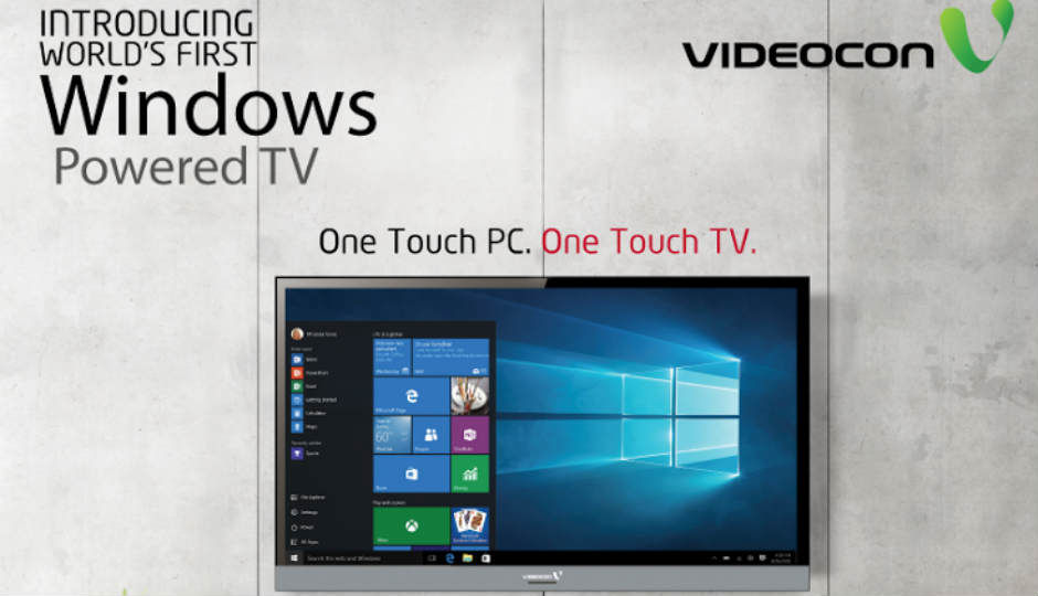 Videocon launches windows 10 powered tv starting at rs for 10 40 window definition