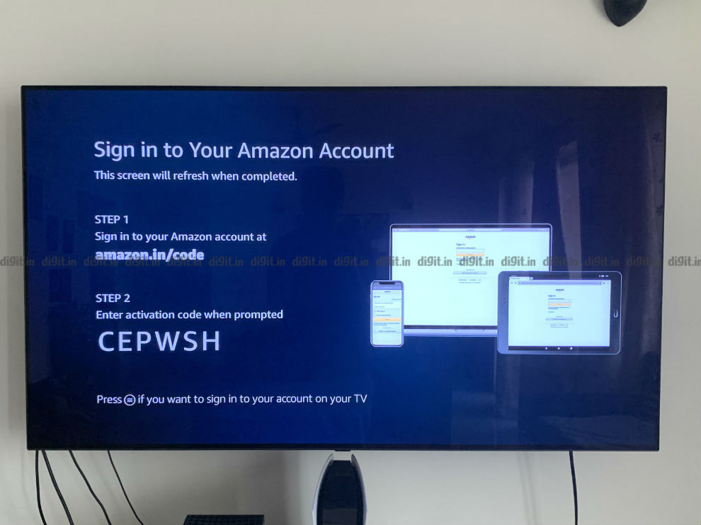 Logging into your amazon account is easier from a smartphone or a computer.