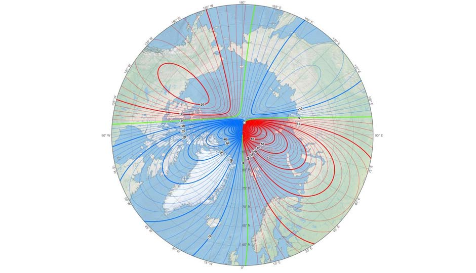 The north magnetic pole is moving, scientists struggle to keep mo...