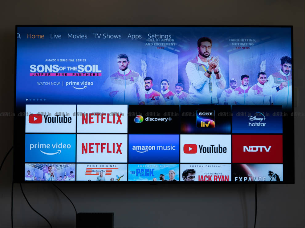 The Fire TV Stick UI is familiar as ever.