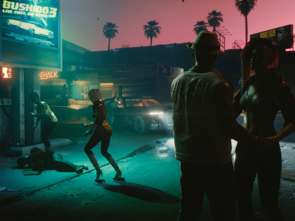 Cyberpunk 2077 is a city with a lot of detial.