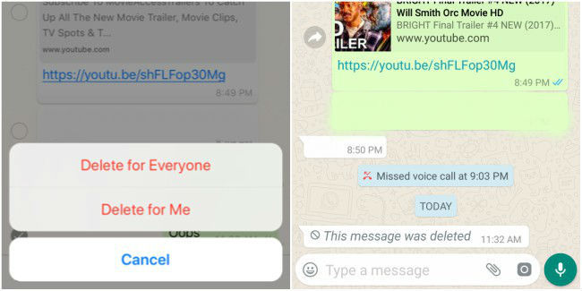 How to use WhatsApp 'Delete for Everyone' feature on iOS and
