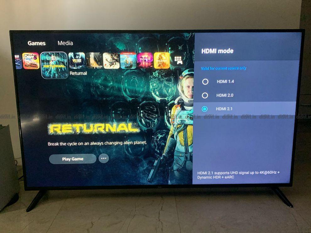The Redmi Smart TV X65 supports HDMI 2.1.