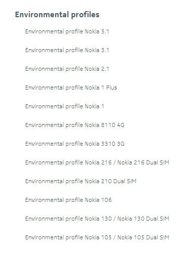 HMD Global puts out environmental profiles of certain Nokia