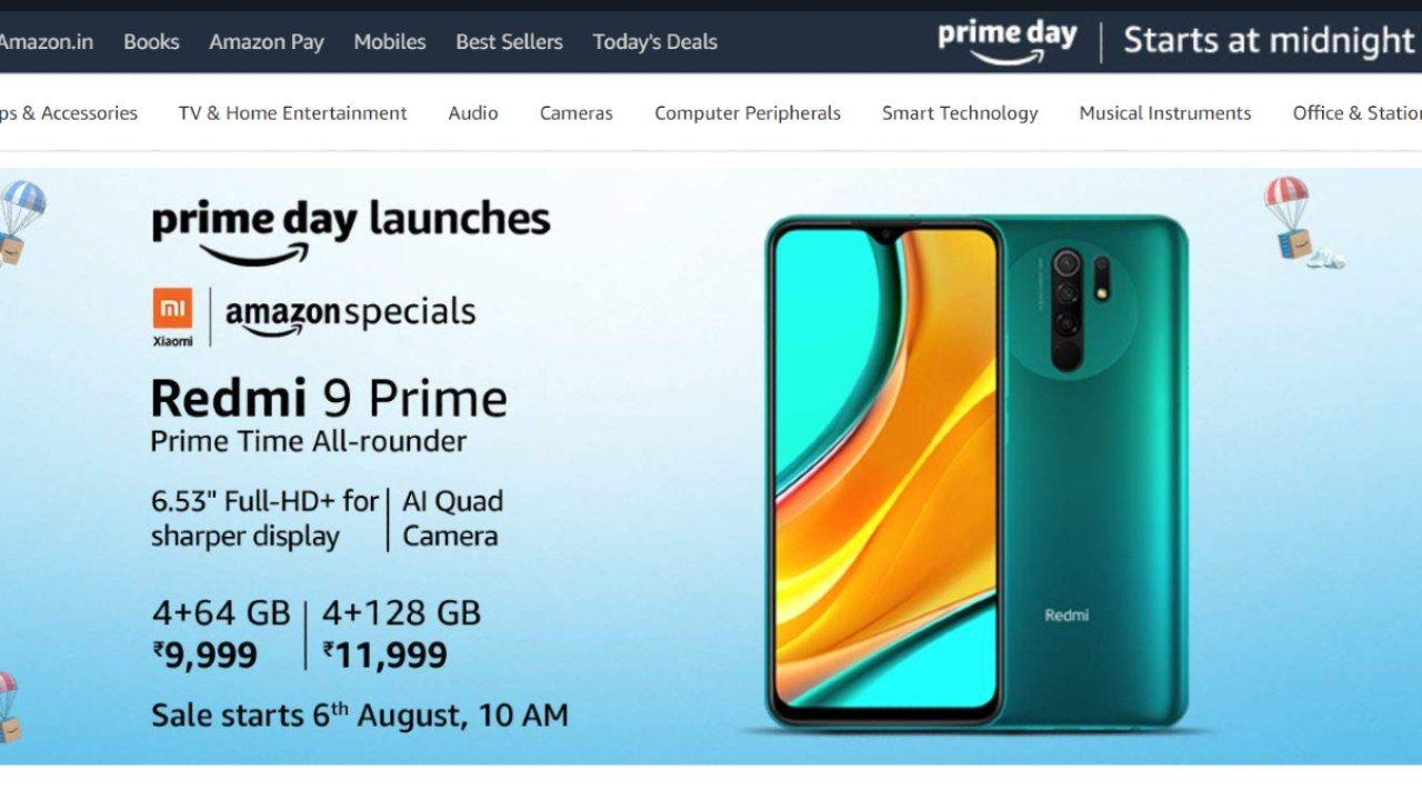Amazon prime day Sale 2020 Xiaomi Redmi 9 prime on Offer