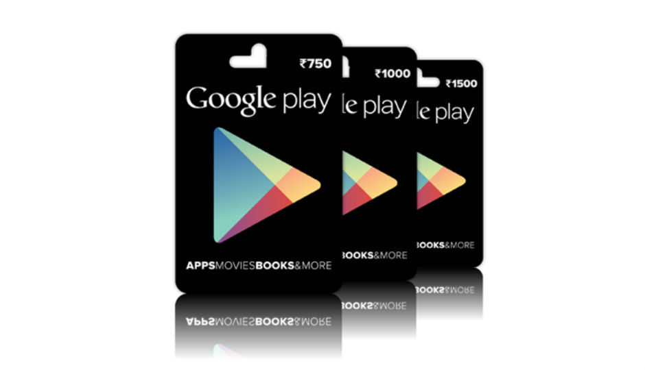 Google Play Gift Cards Now Available In Retail Stores And Snapdeal