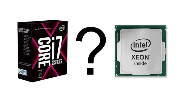 Intel Skylake-X vs Intel Xeon E