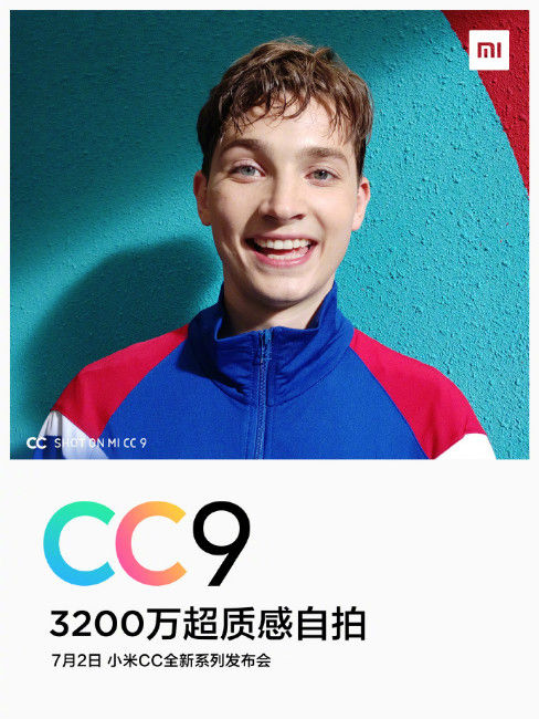 Xiaomi CC9 Poster Teasing The Front Camera