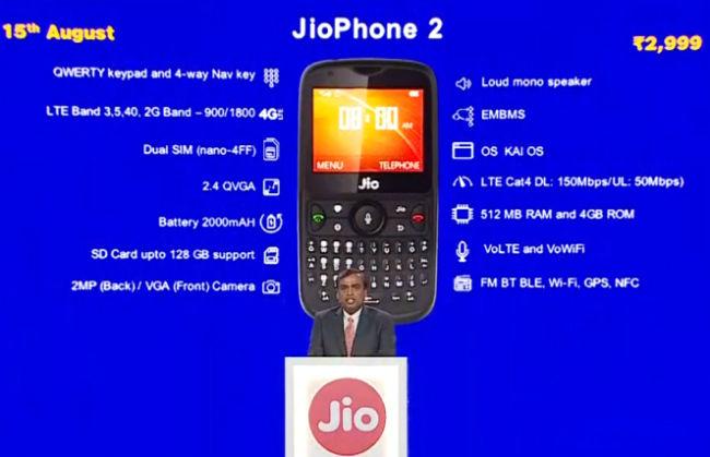 JioPhone 2 announcement