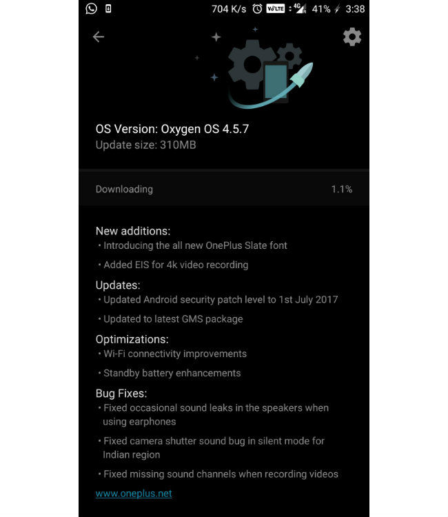 OnePlus rolls out OxygenOS 4 5 7 update for OnePlus 5 brings with it