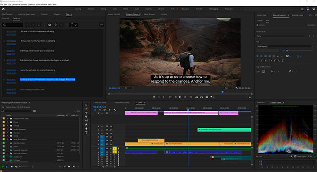 Adobe Premiere Pro gets Speech to geneation subtitles and captions