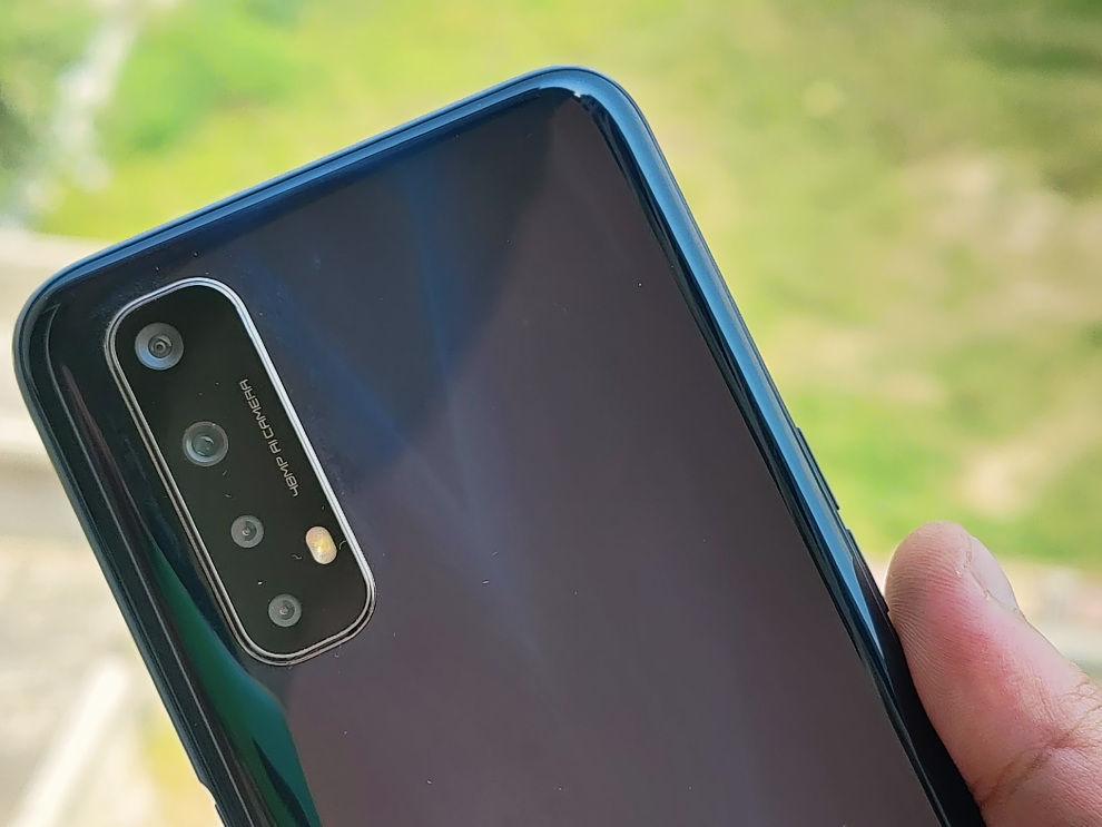 Realme Narzo 20 Pro camera closeup