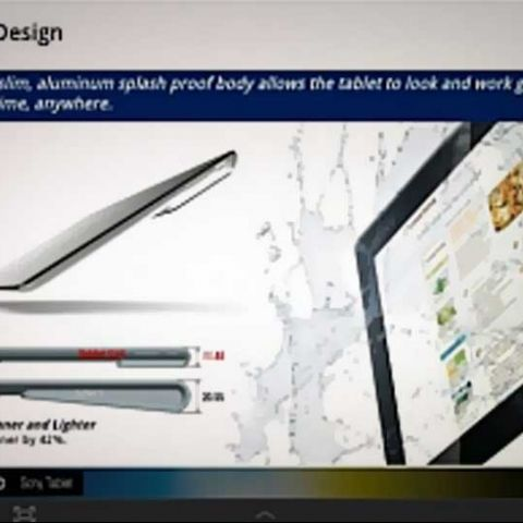 Sony Xperia tablet leaked with images and specifications