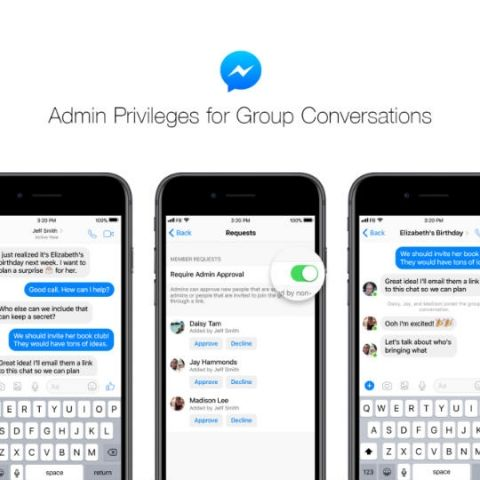 Facebook Messenger adds admin privileges, joinable links for Groups