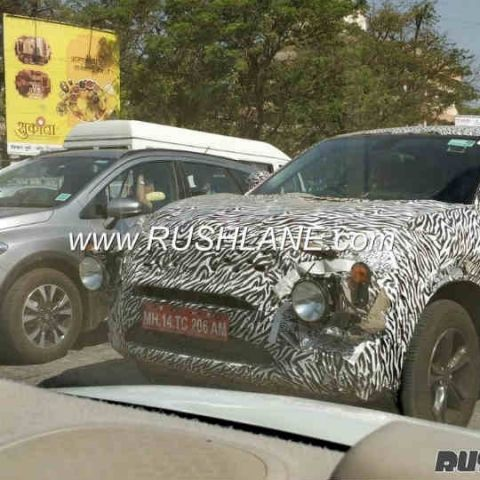Tata H5X SUV spotted during road test with heavy camouflage