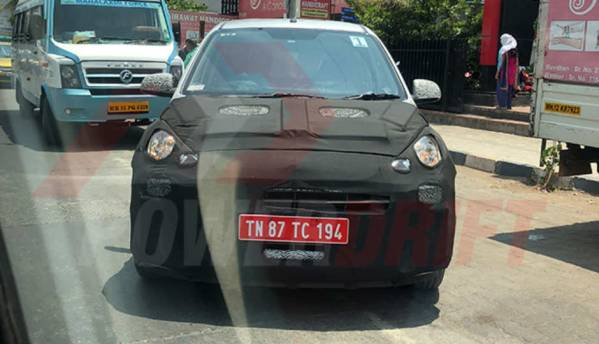 Upcoming Hyundai Santro spotted testing again as launch nears