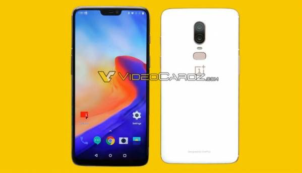 OnePlus 6 leaked renders show front and rear of smartphone, suggests 3 colour variants