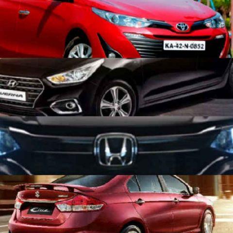 Toyota Yaris v. Honda City v. Hyundai Verna v. Maruti Ciaz: Equipment, features and technology compared