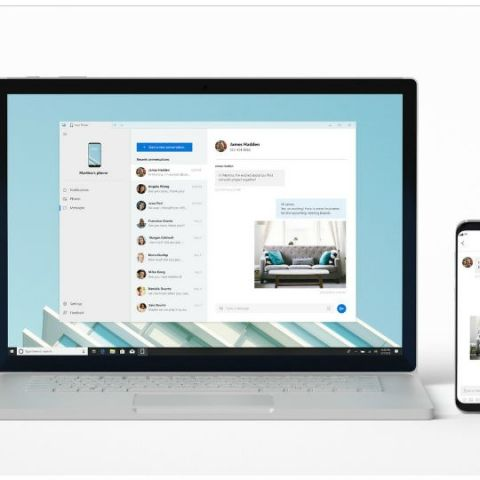 Microsoft starts testing 'Your Phone' app that can mirror a phone to a Windows 10 PC