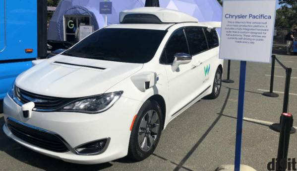 In Photos: Waymo's autonomous Chrysler Pacifica Hybrid minivan and Jaguar I-Pace SUV
