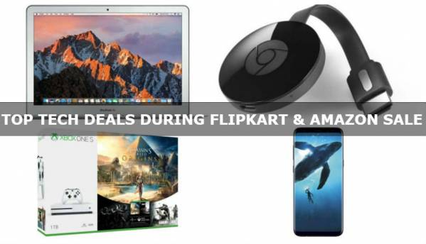 Top tech deals during Flipkart's Big Shopping Days and Amazon's...