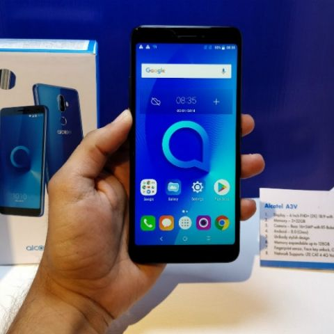 Alcatel 3V' budget smartphone with FullView 18:9 display