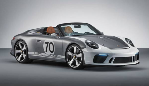 Amid all the tech talk, the Porsche 911 Speedster Concept pays tribute to a bygone era with barely any technology inside