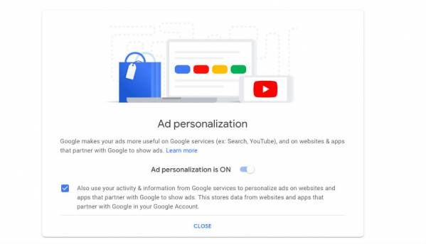 Google gives users more control over ads with new ad personalisation settings