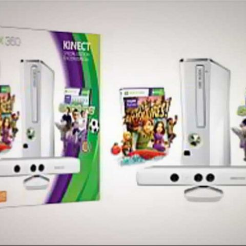 Microsoft launches white Xbox 360 4GB Kinect (White) Sports Value Bundle