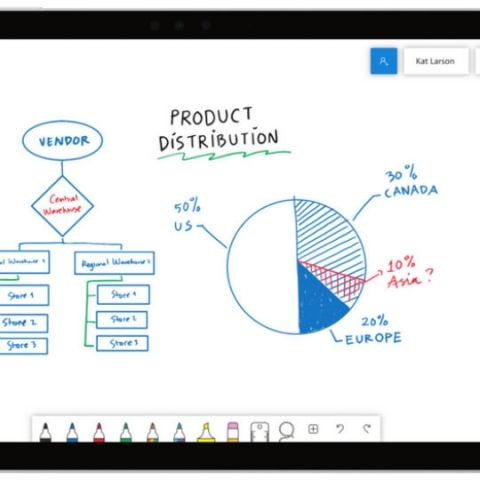 Microsoft launches Whiteboard app for Windows 10; Web and iOS versions to come soon