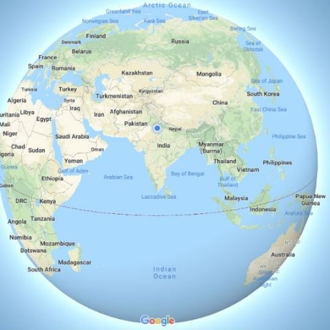 Google Maps finally realised that the earth is round