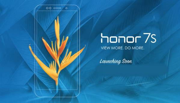 Flipkart-exclusive Honor 7S budget smartphone to launch in India at 2PM today