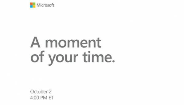 Microsoft schedules Surface event in New York on October 2
