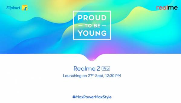 Realme 2 Pro will launch as Flipkart exclusive in India on September 27