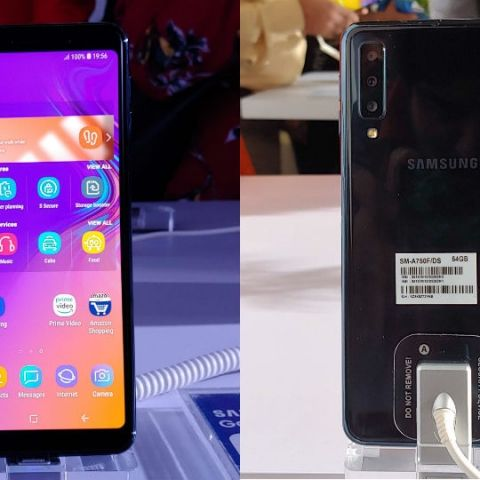 f6ae1ebe1ec Samsung Galaxy A7 (2018) launched in India with triple rear cameras  starting at Rs 23