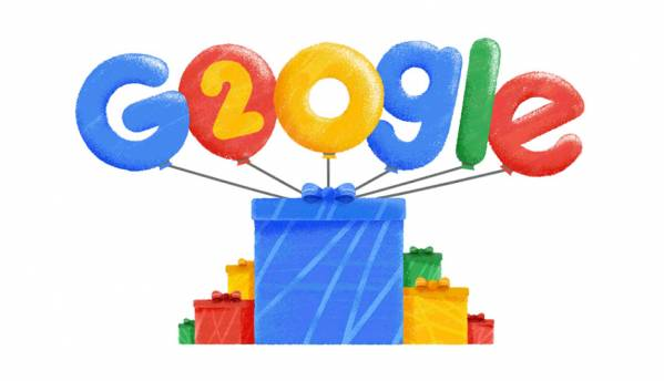 Google's birthday Doodle celebrates 20 years of curiosity, shows the most popular search terms since 1998